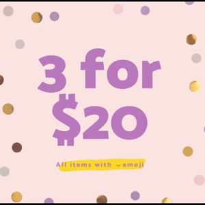 Other - 3 for $20 sale! All items marked with ☀️